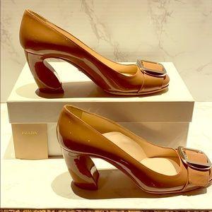 Prada Buckle Sculpted Heel